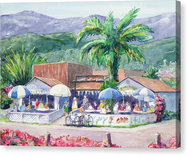 Bright Sunlight Canvas Print featuring the painting The Old Cabos by Ray Cole