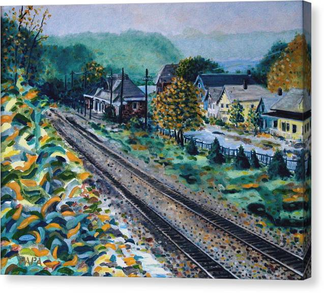 Garrison Canvas Print featuring the painting Garrison Station by Ralph Papa
