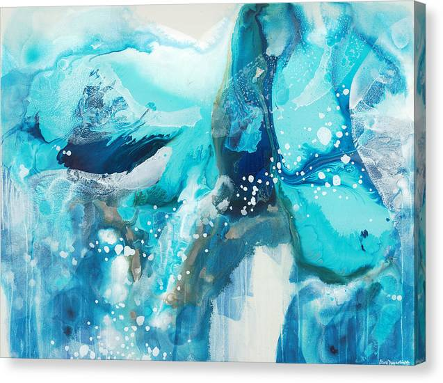 Abstract Canvas Print featuring the painting Brave Depths by Claire Desjardins