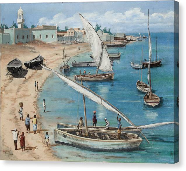 Sun Canvas Print featuring the painting East Africa by Ray Cole