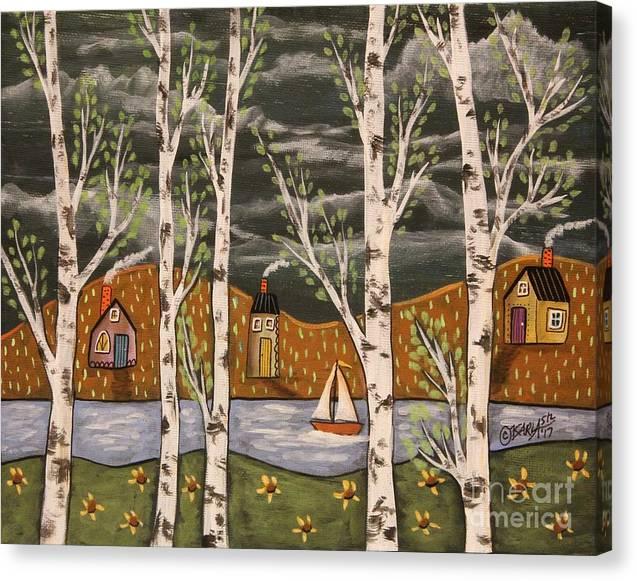 Lake Birches by Karla Gerard