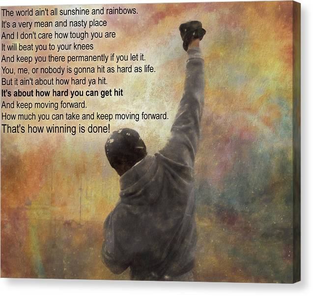 Rocky Balboa Inspirational Quote by Dan Sproul