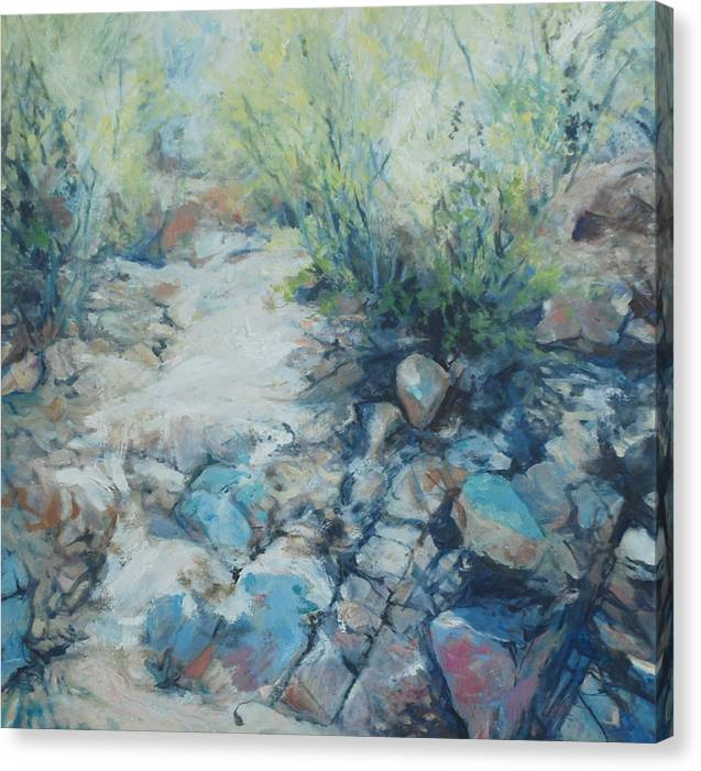 Desert Canvas Print featuring the painting Trail Incline by Marilyn Muller