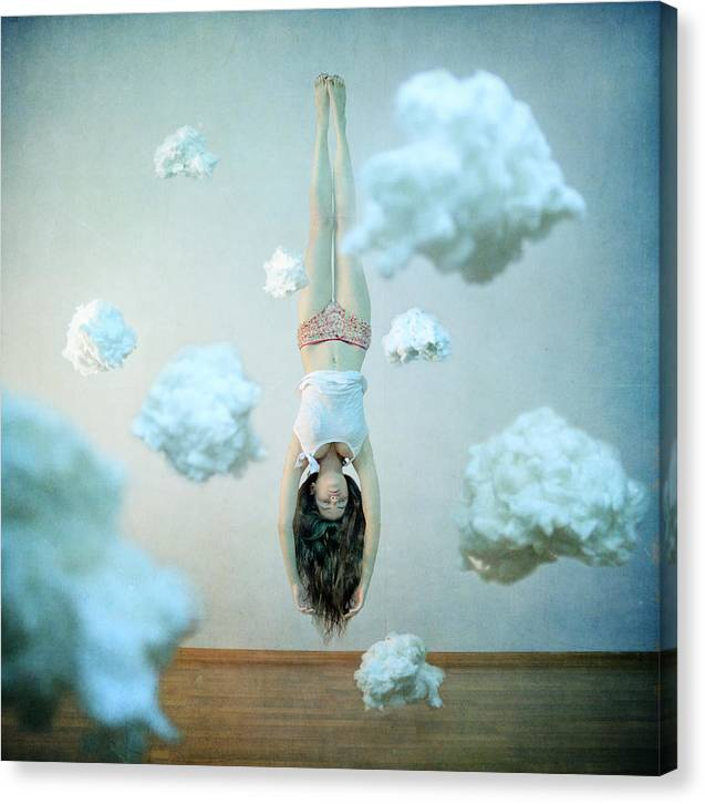 Floating Canvas Print featuring the photograph Head In The Clouds by Anka Zhuravleva
