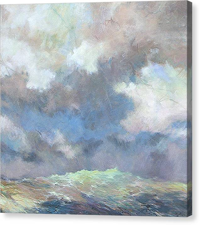 Seascape Canvas Print featuring the painting Sea Glow by Marilyn Muller