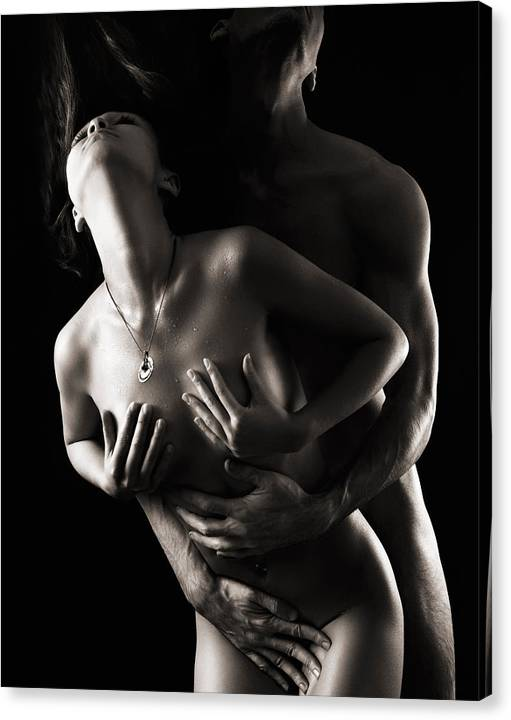Romantic Nude Couple Making Love by Maxim Images Prints
