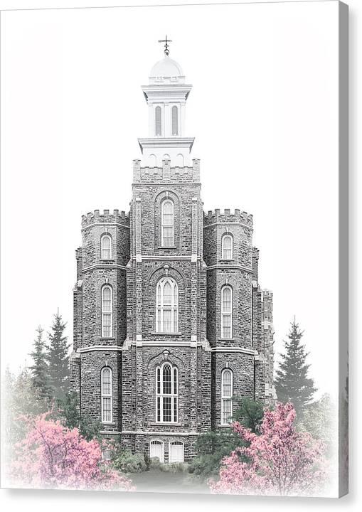 Logan Canvas Print featuring the digital art Logan Temple - Celestial Series by Brent Borup