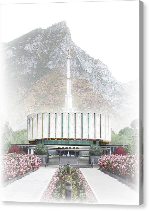 Provo Canvas Print featuring the digital art Provo Temple - Celestial Series by Brent Borup