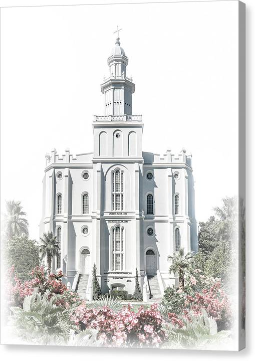 St George Canvas Print featuring the digital art St George Temple - Celestial Series by Brent Borup