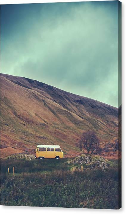 Vintage Camper Van In The Wilderness by Mr Doomits