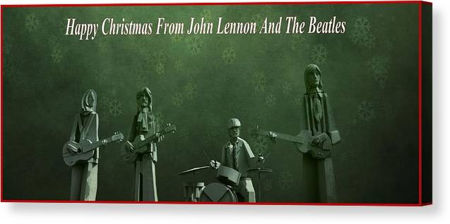 Happy Christmas From John Lennon Canvas Print featuring the photograph Happy Christmas From John Lennon by Dan Sproul