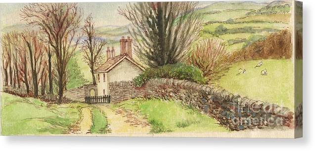 Art Canvas Print featuring the painting Country Scene Collection 1 by Morgan Fitzsimons