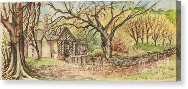 Art Canvas Print featuring the painting Country Scene collection by Morgan Fitzsimons