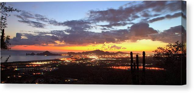 Tranquility Canvas Print featuring the photograph View Of Cabo San Lucas At Sunset by Stuart Westmorland / Design Pics