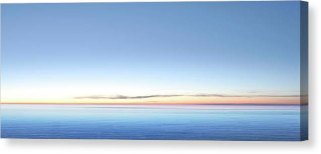 Lake Michigan Canvas Print featuring the photograph Xxl Serene Twilight Lake by Sharply done