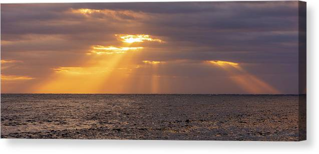 Begur Canvas Print featuring the photograph Dawn Rays On The Coast Of Begur by Vicen Photography