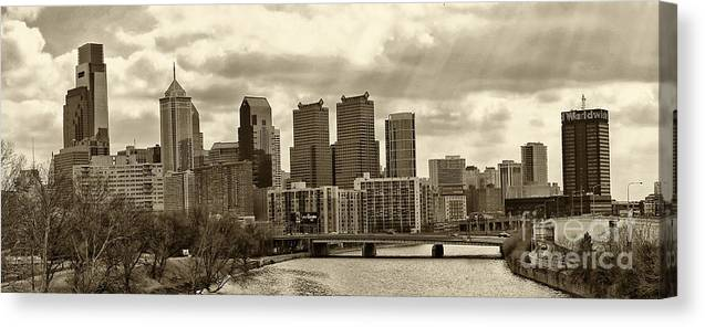 Philadelphia Canvas Print featuring the photograph Philadelphia Skyline 1 by Jack Paolini
