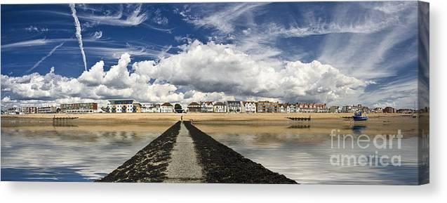 Southend On Sea Canvas Print featuring the photograph Southend on Sea Panorama by Sheila Smart Fine Art Photography