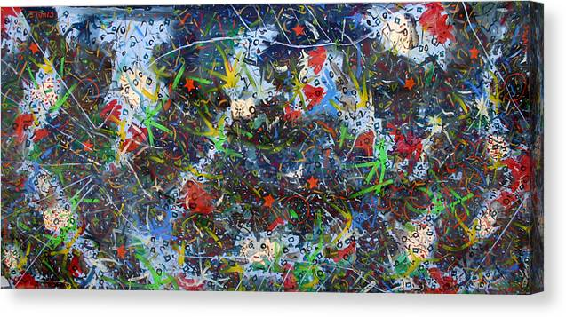 Abstract Canvas Print featuring the painting Big fish by Biagio Civale