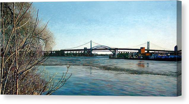 River Canvas Print featuring the painting Hell's Gate by Randy Ford