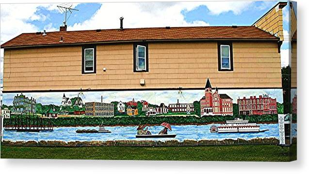 House Canvas Print featuring the painting Welcome to the park by Richard Hubal