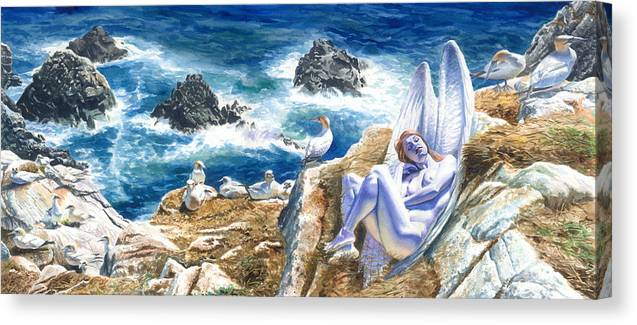 Women Canvas Print featuring the painting At Rest by Ken Meyer jr