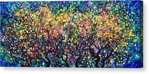 Abstract Canvas Print featuring the painting Moonlight Magic by Sandy Sandy