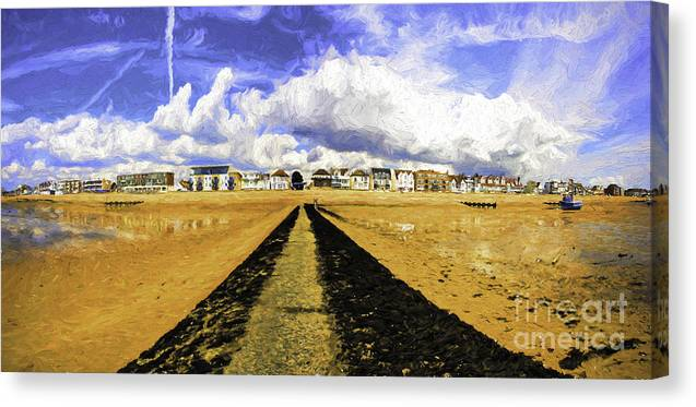 Southend On Sea Canvas Print featuring the photograph Seafront at Southend on Sea by Sheila Smart Fine Art Photography