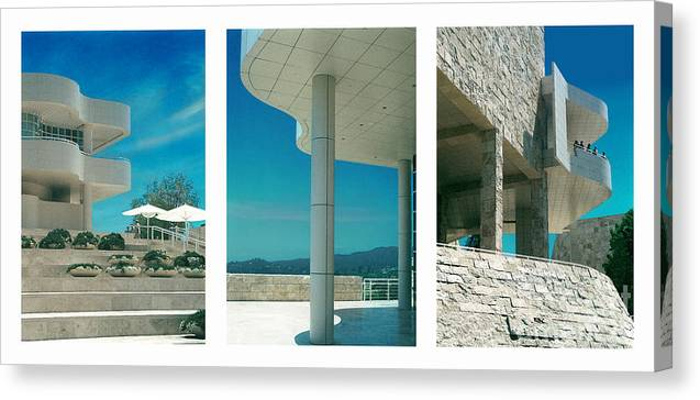 Abstract Canvas Print featuring the photograph The Getty Triptych by Steve Karol