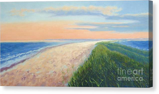 Landscape Canvas Print featuring the painting Wanderlust by Laura Roberts