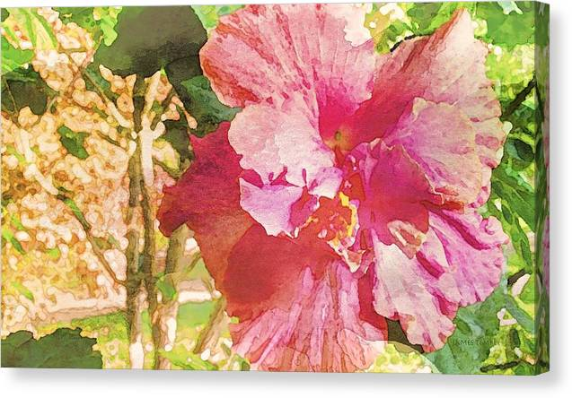 Kissed By The Sun Canvas Print featuring the digital art Kissed By The Sun by James Temple