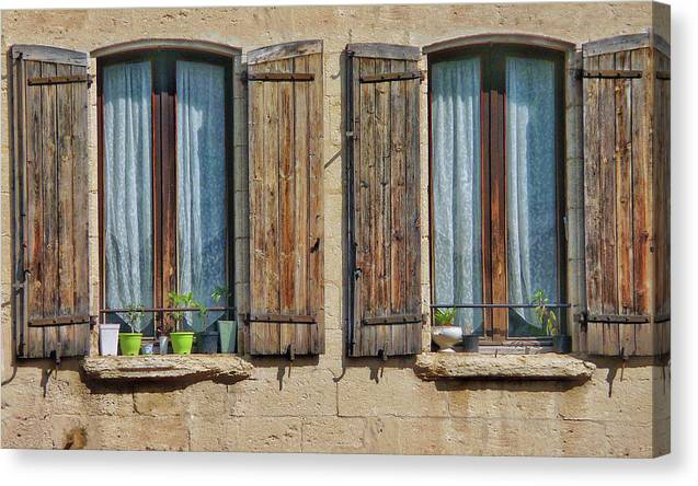 Europe Canvas Print featuring the digital art Provence Windows by Scott Waters