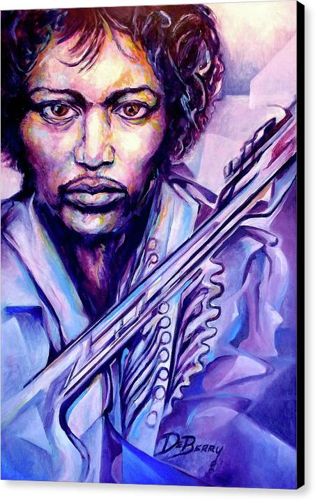 Canvas Print featuring the painting Jimi by Lloyd DeBerry
