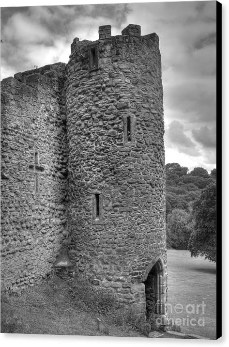 Folly Canvas Print featuring the photograph Roundhay Folly by Steev Stamford