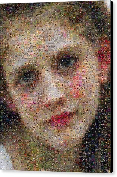 Mosaic Canvas Print featuring the digital art Bouguereau - Avant Le Bain by Gilberto Viciedo