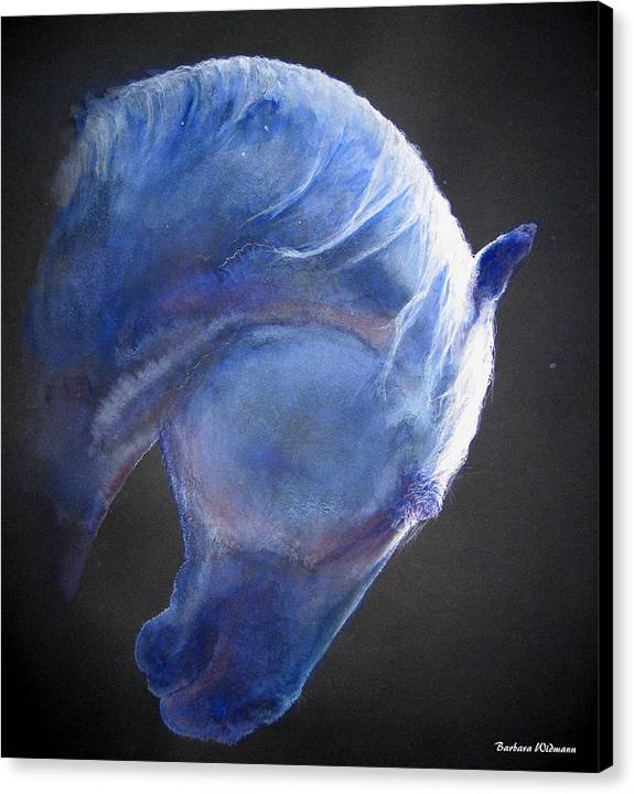 Horse Canvas Print featuring the painting Crescent Moon by Barbara Widmann