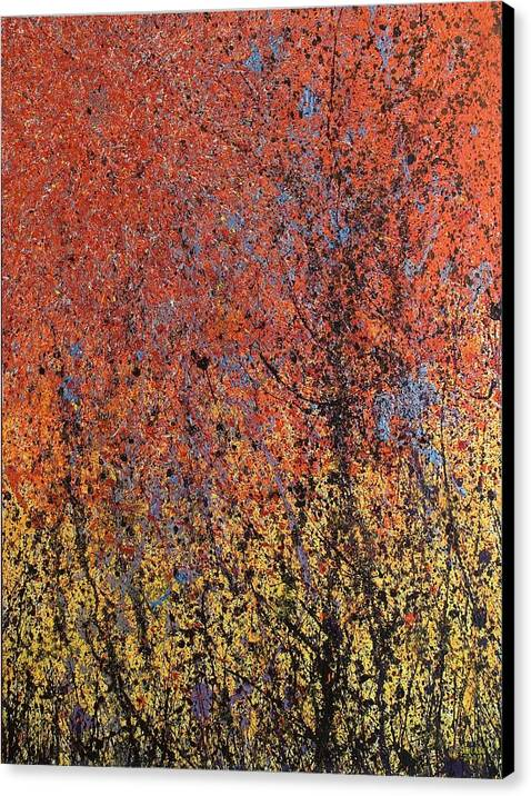 Abstract Canvas Print featuring the painting New World's Eve by Steven Dean