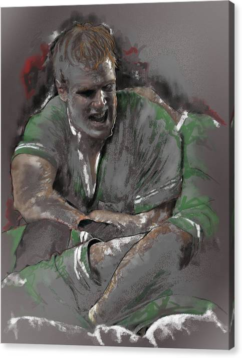 Rugby Canvas Print featuring the painting Oconell 2 by James Robinson