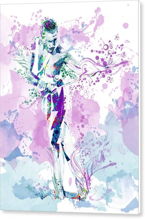 Freddie Mercury Waterolor Style by Bekim Art