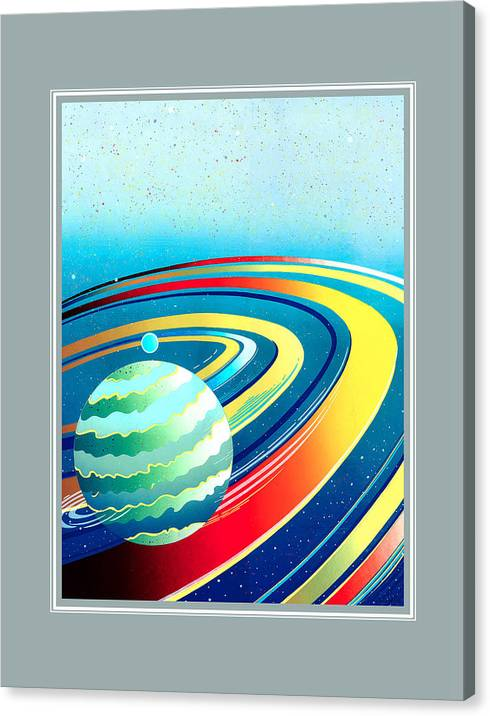 Earth Canvas Print featuring the painting Earth by Santi Arts