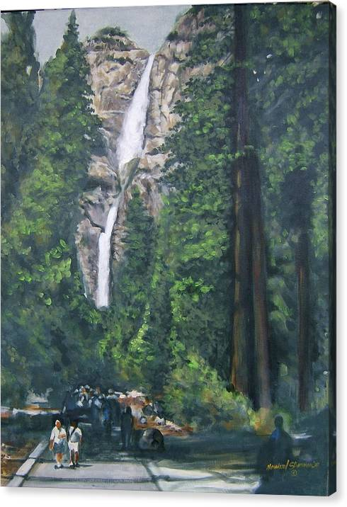 Yosemite National Park Canvas Print featuring the painting Yosemite by Howard Stroman