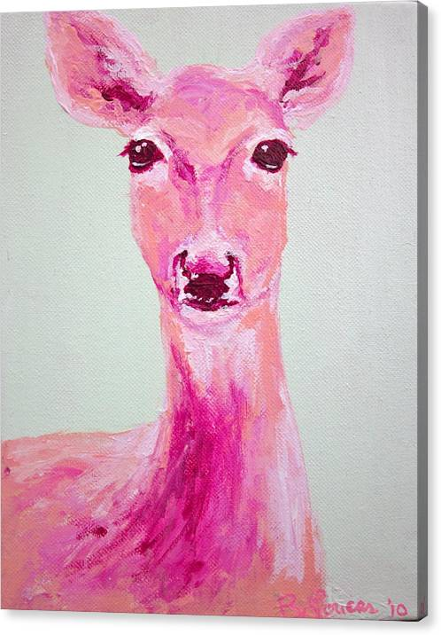 Animal Canvas Print featuring the painting Deer by Britta Loucas
