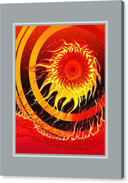 Fire Canvas Print featuring the painting Fire by Santi Arts
