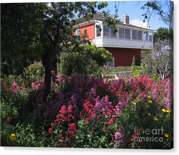 Limited Time Promotion: Cooper-molera Garden Stretched Canvas Print by James B Toy