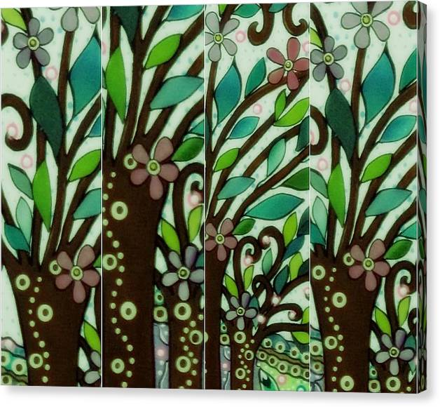 Limited Time Promotion: Forest Party Iii Stretched Canvas Print
