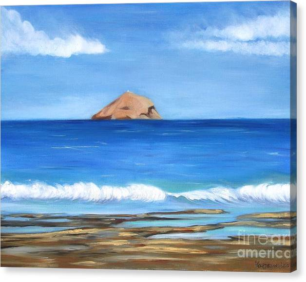 Limited Time Promotion: Raftis Islet Stretched Canvas Print