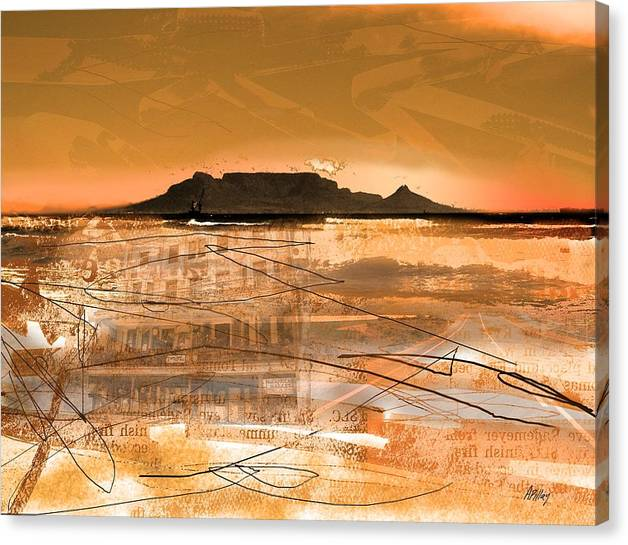 Limited Time Promotion: Table Mountain Journal Stretched Canvas Print