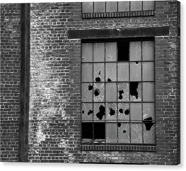 Limited Time Promotion: Bethlehem Steel Window Stretched Canvas Print