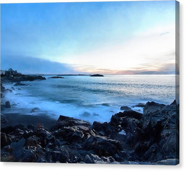 Limited Time Promotion: Christmas Morning Dawn At Castle Rock Marblehead Ma Stretched Canvas Print