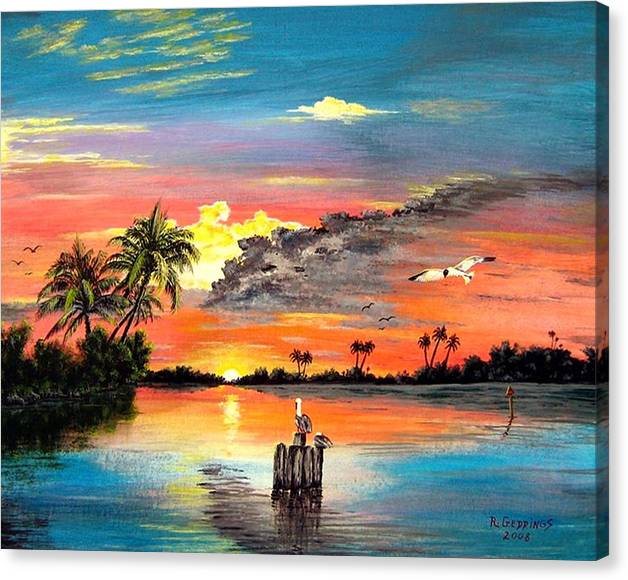 Limited Time Promotion: Marco Island Study Stretched Canvas Print